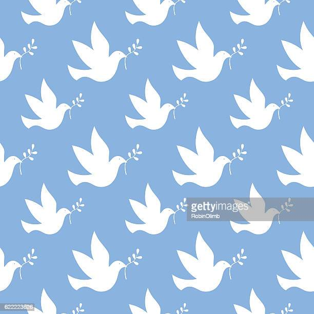 Peace Dove Seamless Pattern