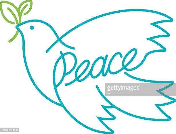 peace dove - peace stock illustrations, clip art, cartoons, & icons