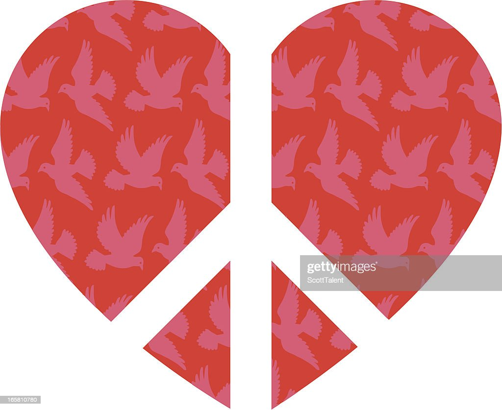 Peace Heart Vector Art Getty Images