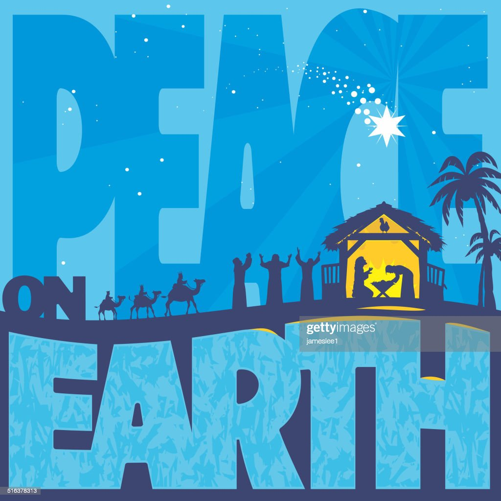 Peace on Earth : stock illustration