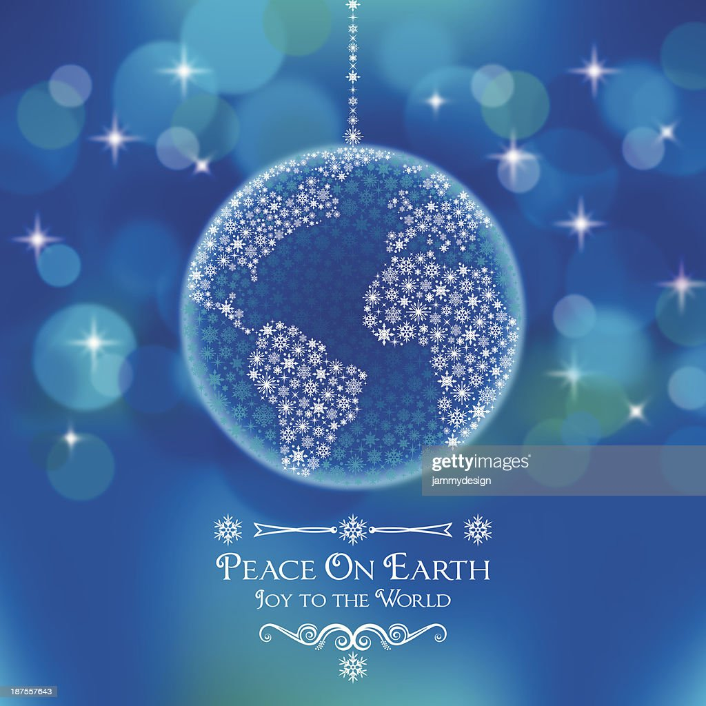 Peace On Earth World Ornament : Stock Illustration