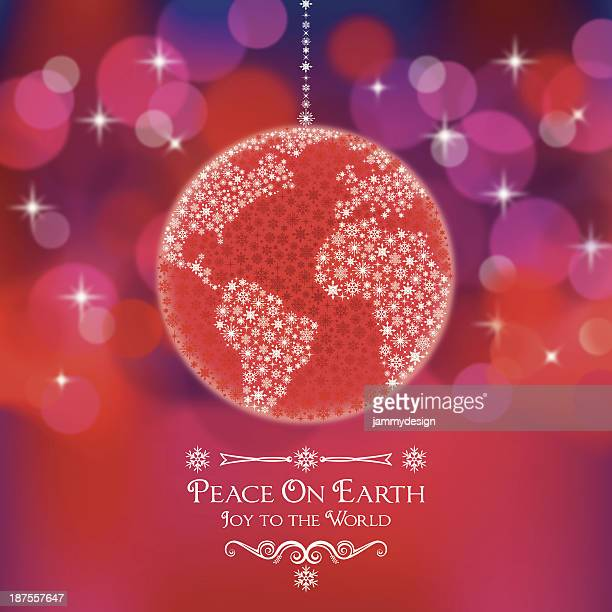 Peace On Earth World Ornament
