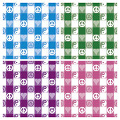 Peace Plaid in 4 Colorways