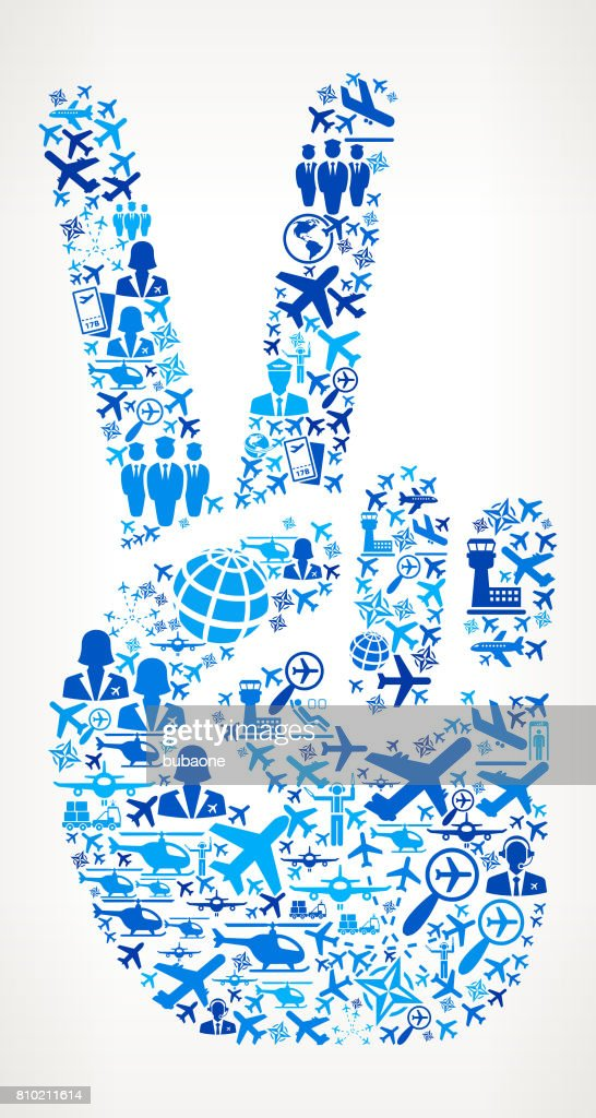 Peace Sign  Aviation and Air Planes Vector Graphic : stock illustration