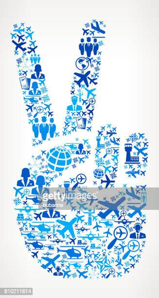 Peace Sign  Aviation and Air Planes Vector Graphic
