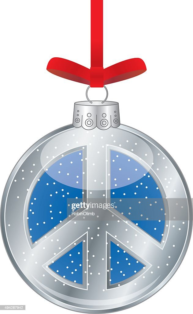 Peace Sign Christmas Ornament Vector Art Getty Images