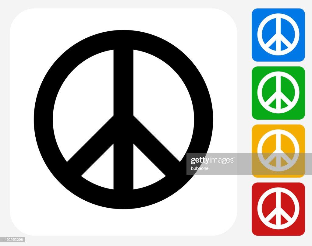 Peace Sign Icon Flat Graphic Design