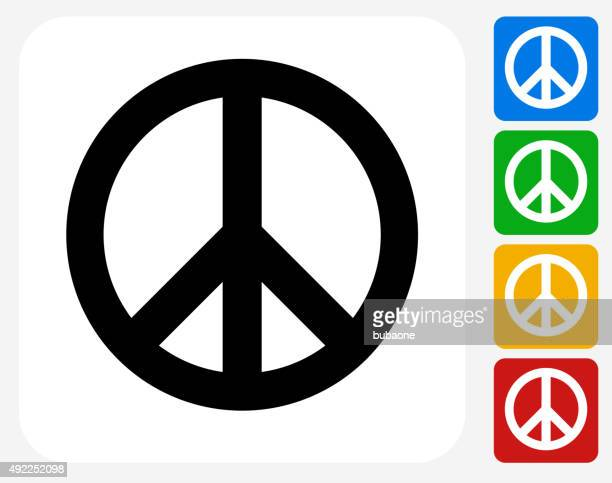 peace sign icon flat graphic design - symbols of peace stock illustrations