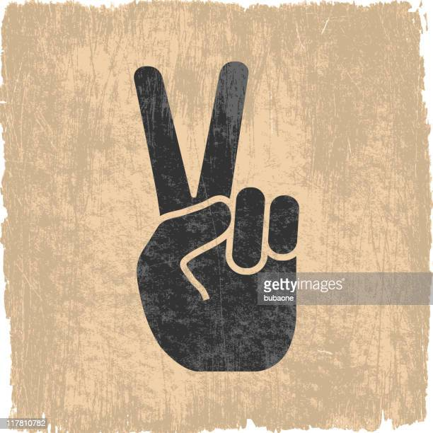 peace sign on royalty free vector background - peace stock illustrations, clip art, cartoons, & icons