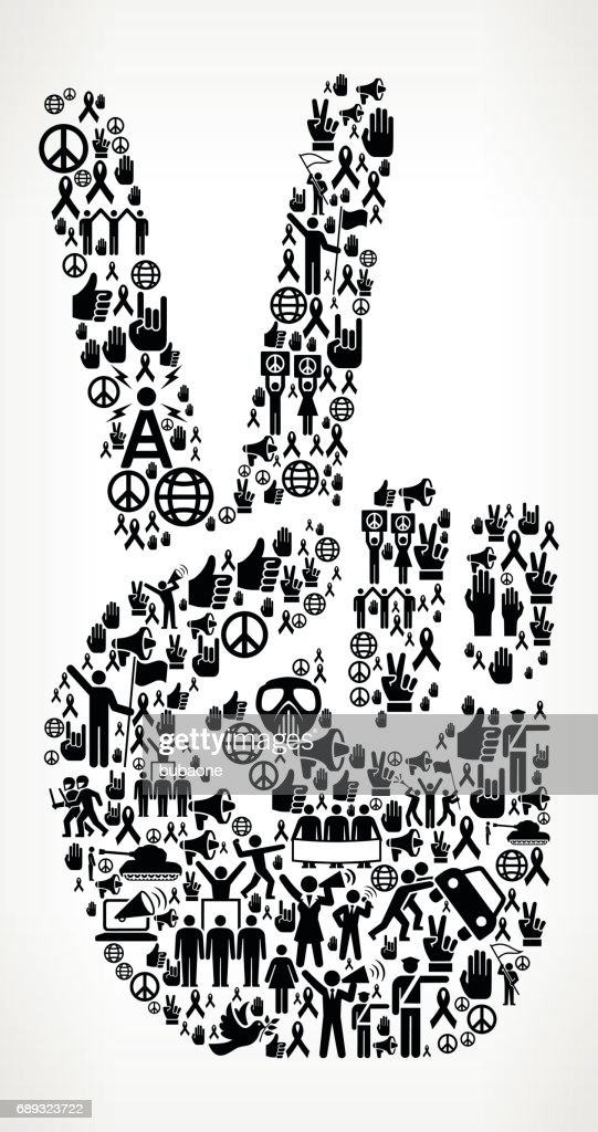 Peace Sign  Protest and Civil Rights Vector Icon Background : Stock Illustration