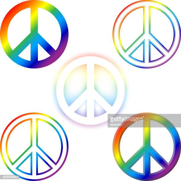 peace sign - symbols of peace stock illustrations