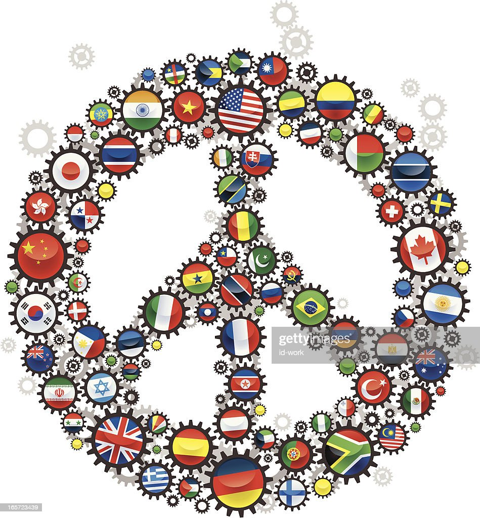 Peace Sign With Flags Vector Art Getty Images