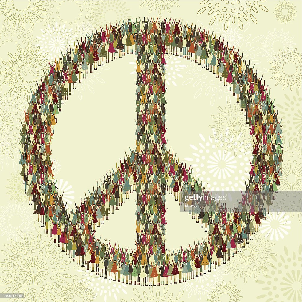 Peace Symbol Of Children Vector Art Getty Images