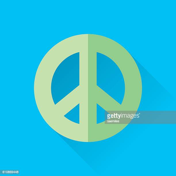 Colorful Background Made Of Peace And Love Symbols Stock