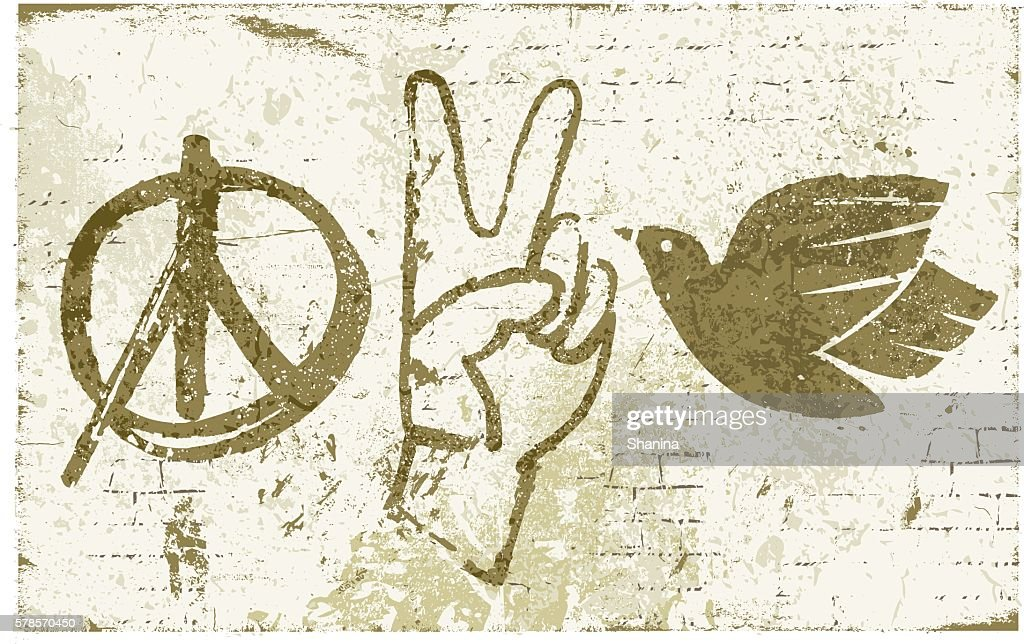 Peace Symbols Graffiti Wall Vector Art Getty Images