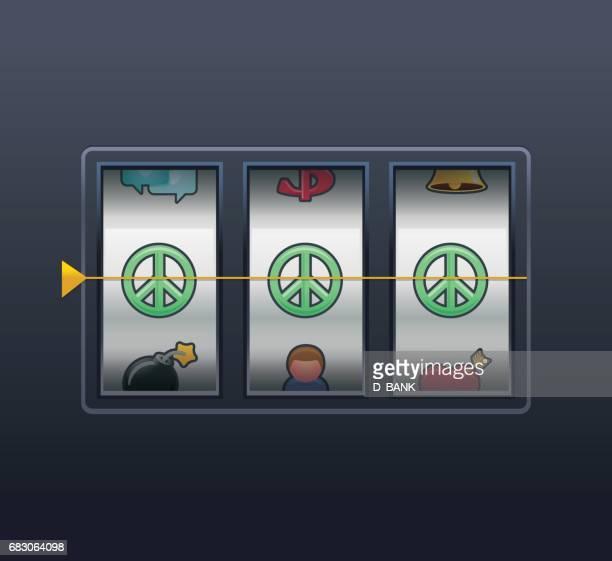 peace wins - slot machine stock illustrations, clip art, cartoons, & icons