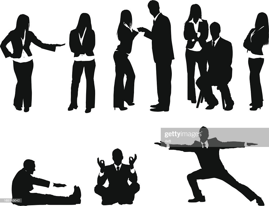 Peaceful business people : stock illustration