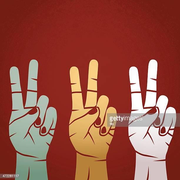 peaceful revolution - peace stock illustrations, clip art, cartoons, & icons