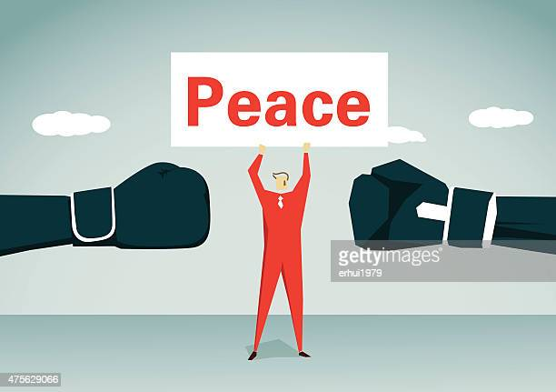 peace-illustration - fighting stance stock illustrations, clip art, cartoons, & icons
