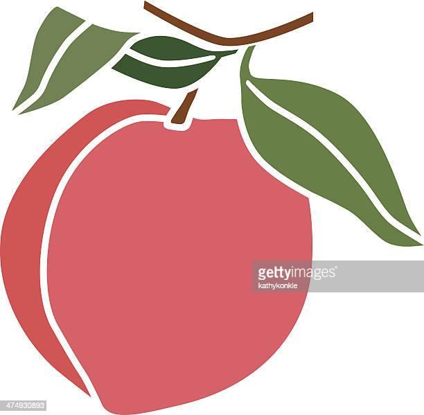 peach in color - peach stock illustrations
