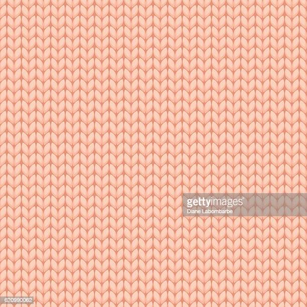 Peach Knitted Sweater Material Seamless Pattern