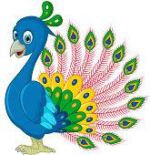 Peacock cartoon for you design