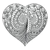 Peacock in heart for Valentines Day or Avatar