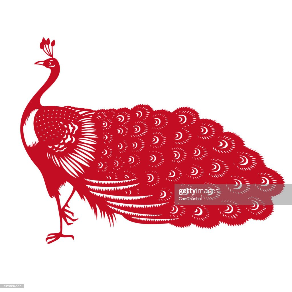 Peacock(Chinese traditional paper-cut art)