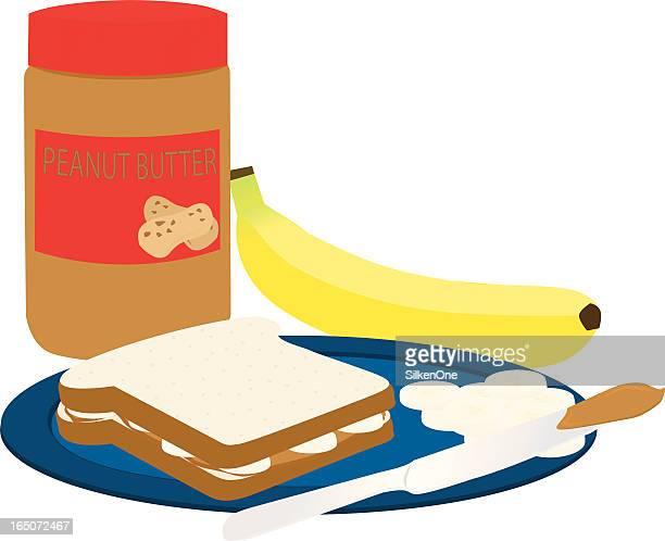 Mantequilla de cacahuete y de Banana