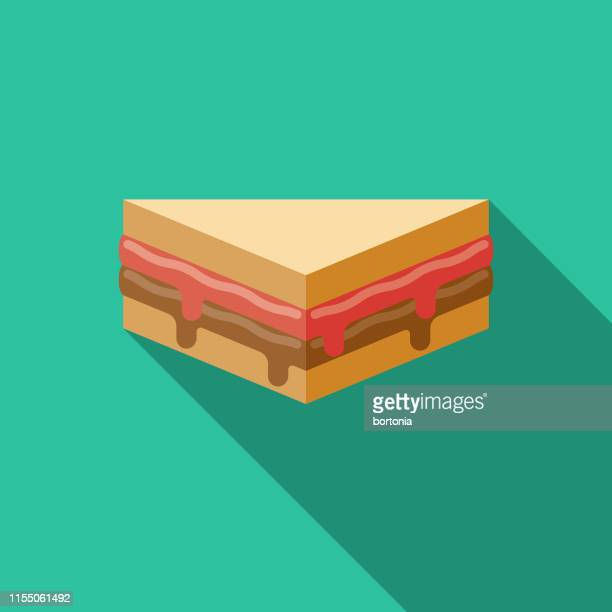 peanut butter and jelly sandwich icon - peanut butter and jelly sandwich stock illustrations