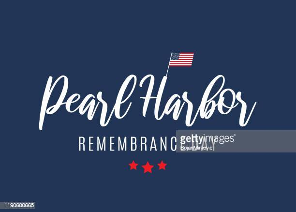 pearl harbor remembrance day card, poster, background. vector - pearl harbor attack stock illustrations