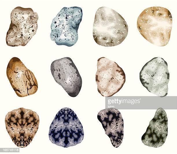 pebbles-, isoliert auf weiss