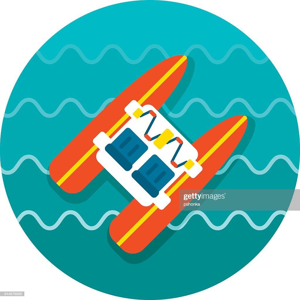Pedalo boat beach icon. Summer. Vacation