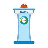 Pedestal, tribune of participant of quiz show