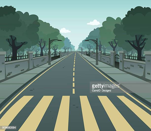 pedestrian lane - mid section stock illustrations