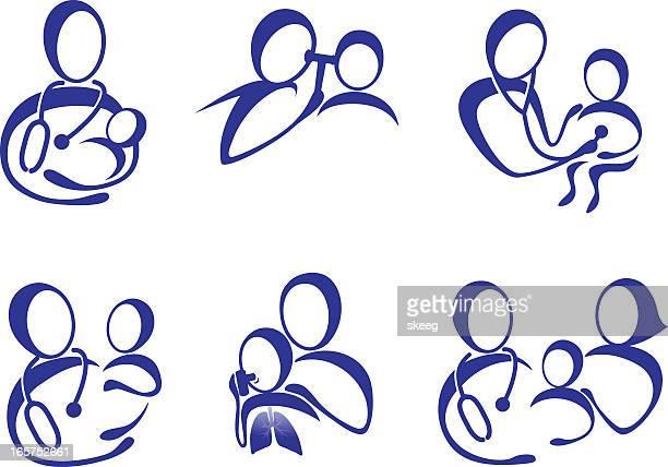 小児のケア - 小児科医点のイラスト素材/クリップアート素材/マンガ素材/アイコン素材