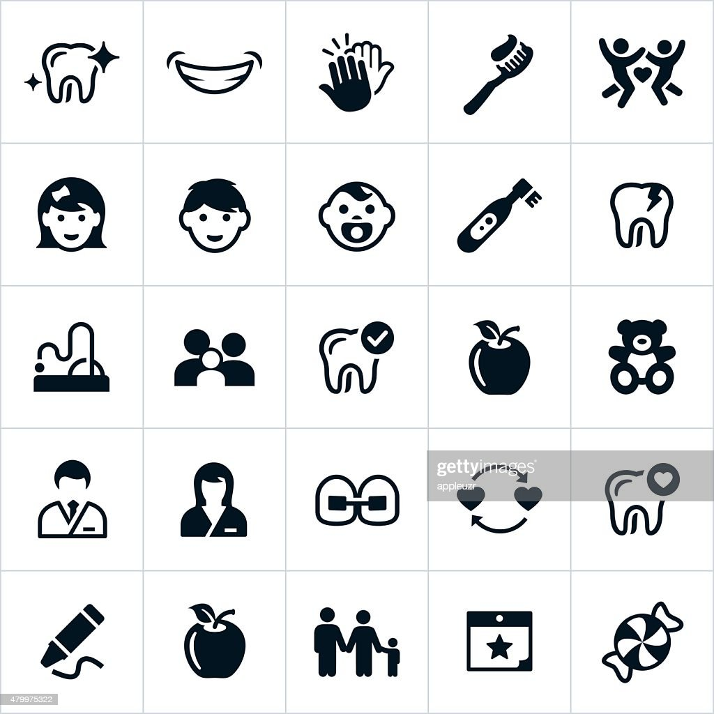 Pediatric Dentistry Icons
