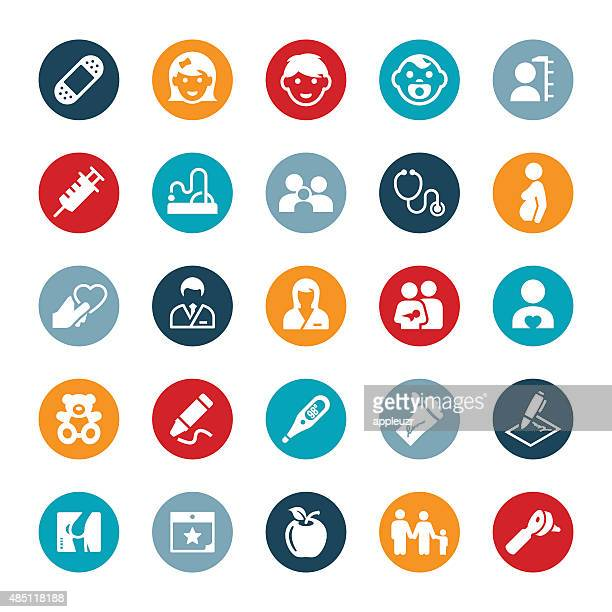 Pediatric Medicine Icons
