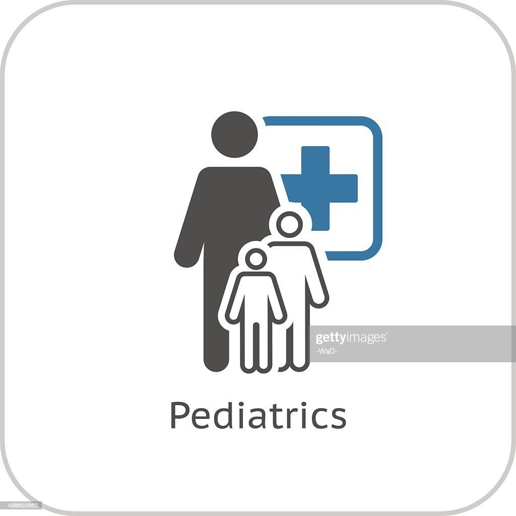 Pediatrics and Medical Services Icon. Flat Design.