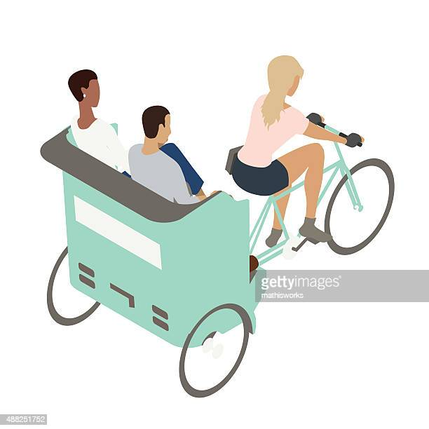 pedicab illustration - mathisworks stock illustrations