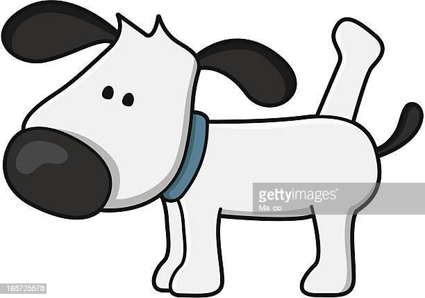 ilustraciones, imágenes clip art, dibujos animados e iconos de stock de peeing perro - orina