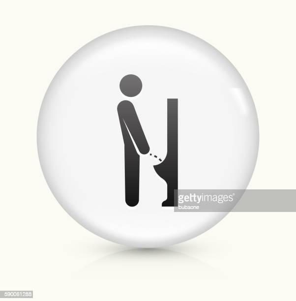 ilustraciones, imágenes clip art, dibujos animados e iconos de stock de peeing urinal icon on white round vector button - orina
