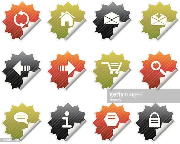 Peeling Internet Icons I