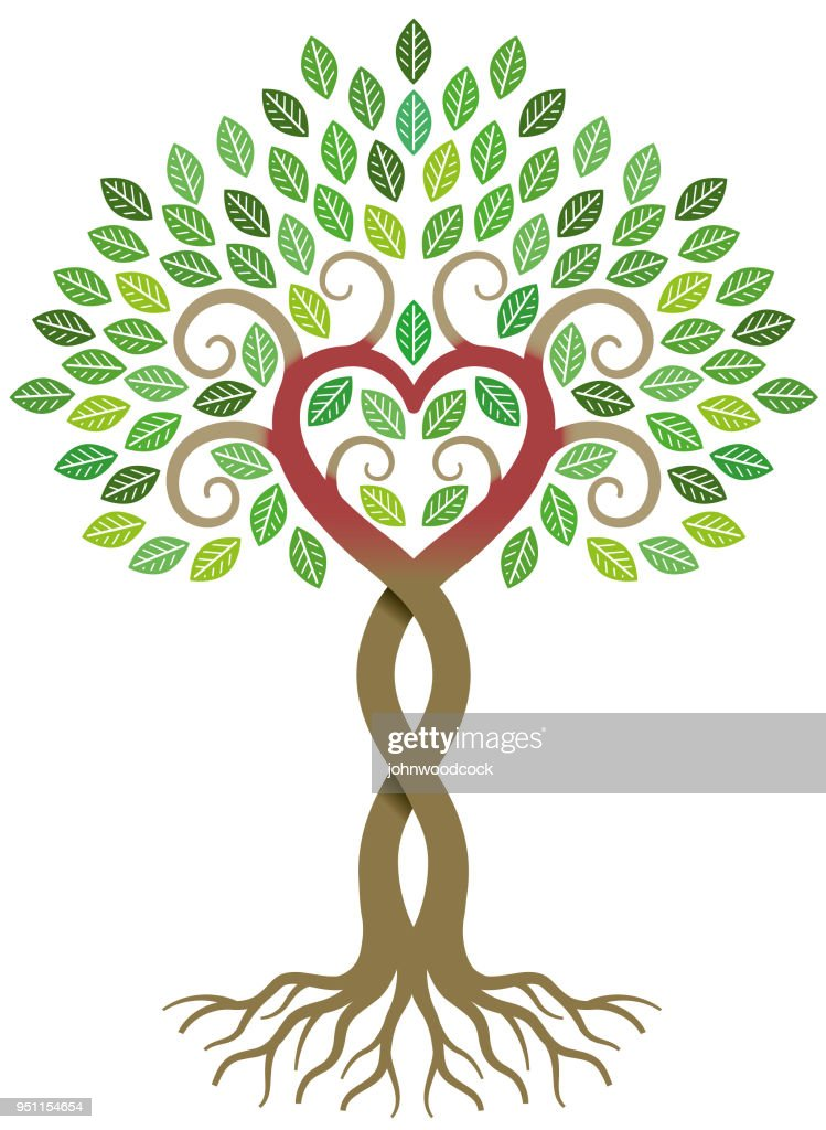 Peeling paint heart tree vector