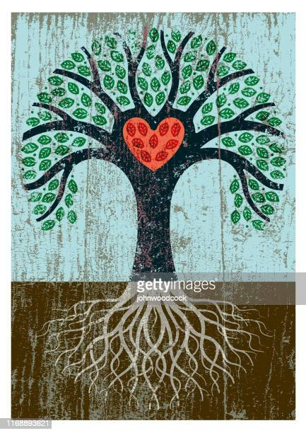 peeling paint tree illustration - images stock illustrations