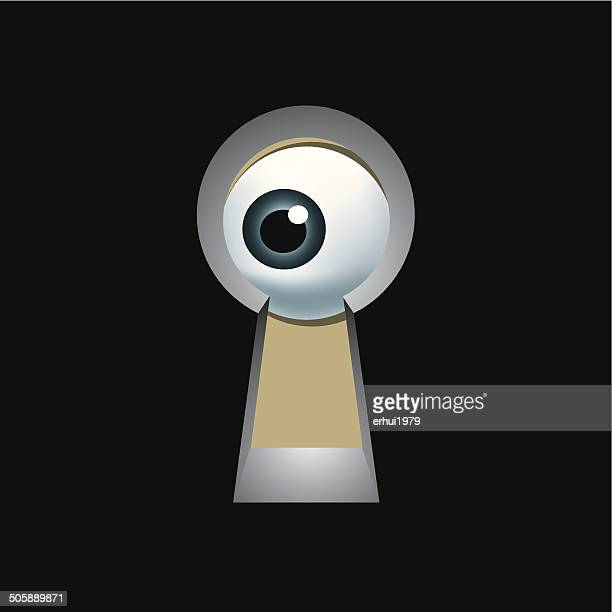 peephole - hidden stock illustrations, clip art, cartoons, & icons