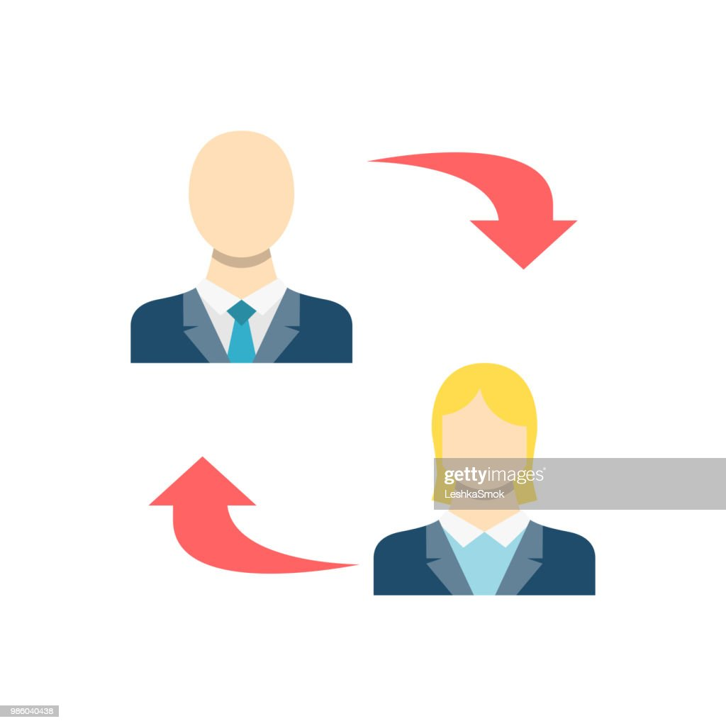 Peer to Peer Related Vector Icon