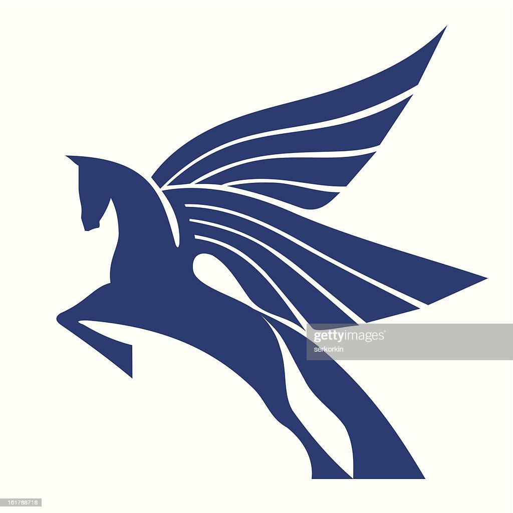 Pegasus Horse Logo Vector Sign