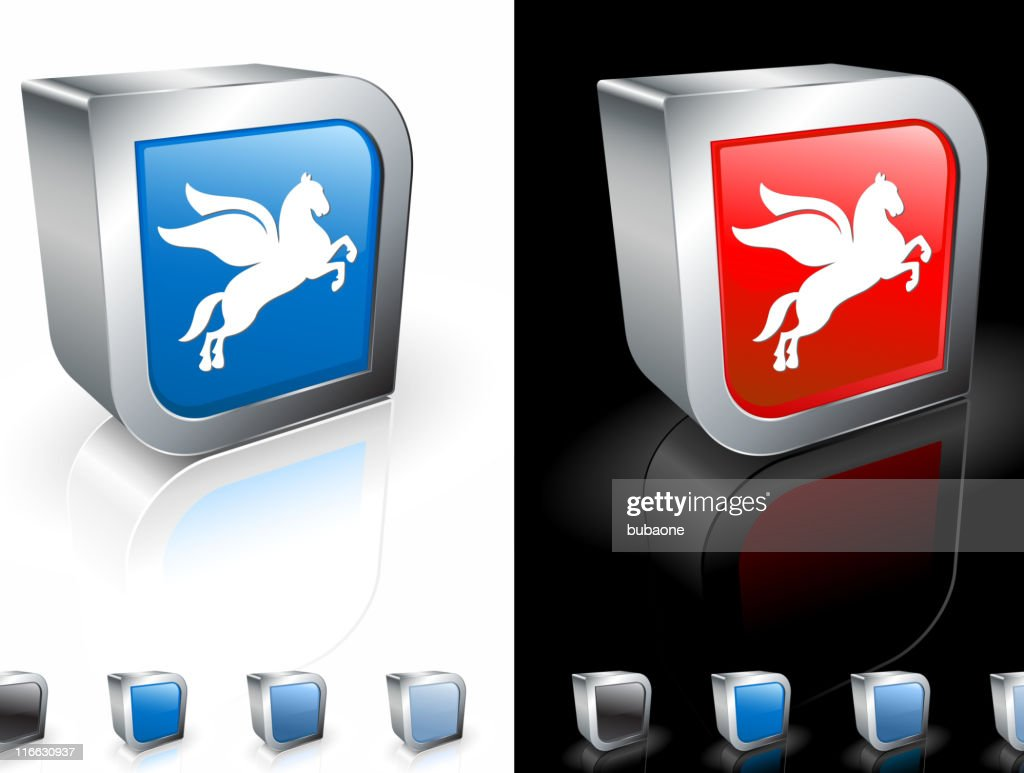 Pegasus the horse with wings royalty free vector art : stock illustration