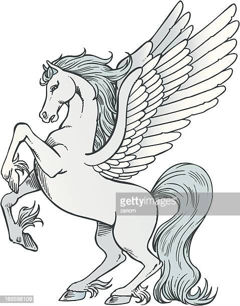 pegasus - pegasus stock illustrations, clip art, cartoons, & icons